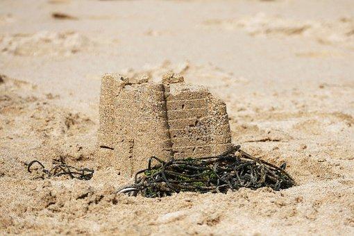 Sand Castle, Beach, Sand, Castle, Vacation, Sea, Summer