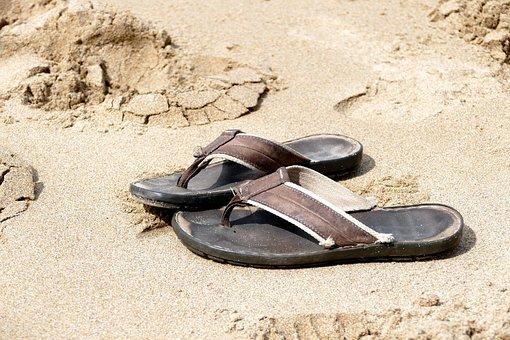Flip Flops, Beach, Summer, Holiday, Flip, Vacation, Sea