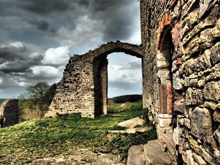 Castle, Castle Ruin Of Arnstein, 1000 Years, Very Old
