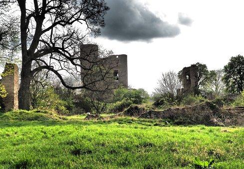 Castle, Castle Ruin Of Arnstein, Very Old, Film Set