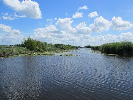 Nieuwkoopseplassen, Water, Nature, Natural Water, Flow
