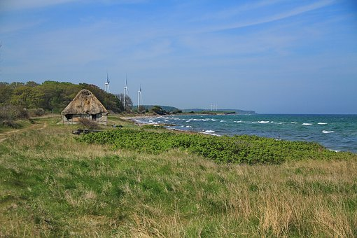 Langeland, Landskab, Longisland, Ocean, Sea, Beach