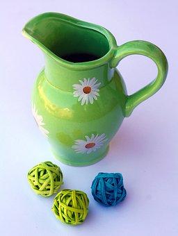 Krug, Decoration, Oastern, Spring, Isolated, Ceramic