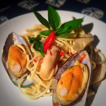 Mussels, Spagetthi, Italian Food