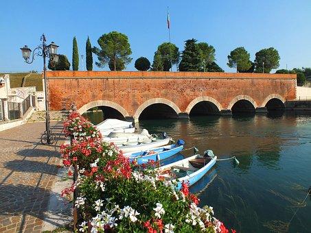Peschiera Del Garda, Garda, Italy, Holiday, Port, Water