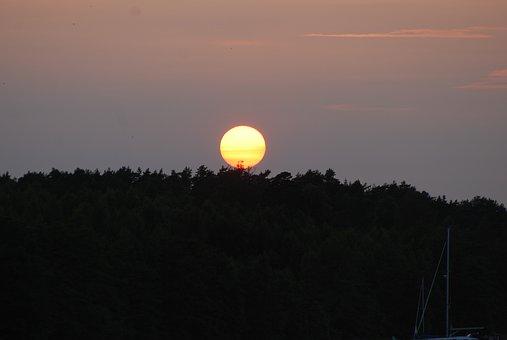 Moon, A Full Moon, Summer Night