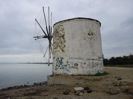 Wind, Anemomylos, Beach, Chalkidiki