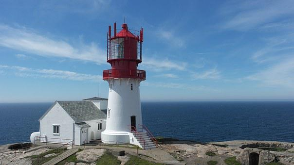 Norway, Lighthouse, Lindesnes, Sea