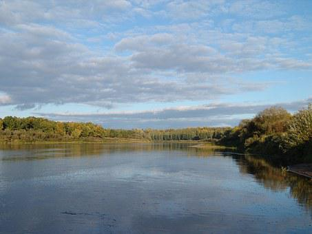 River, Vyatka, Autumn, Russia, Landscape