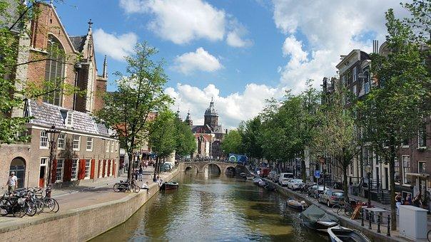 Amsterdan, Channels, Bridges, Sky