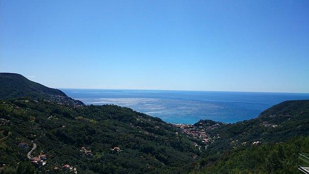 Coast, Sun, Sea, Italy, Moneglia, Liguria
