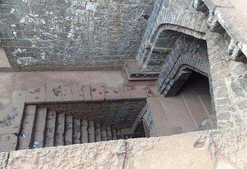 Temple, Fort, Secret Entry, Stairs, Panhala, Kolhapur