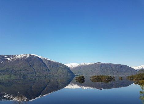 Hornindalsvatnet, Norway, Mountain, Lake