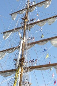 Sailors, Sailboat, Boat, Ship, Port, Valencia, Mexico