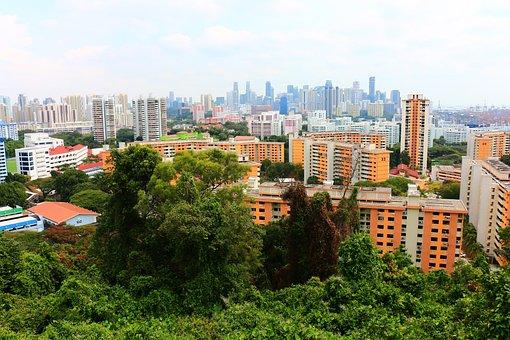 Singapore, City, Skyscrapers, Southern Ridges