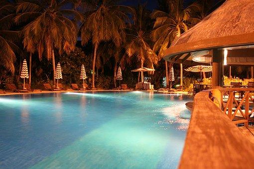 Pool, Night View, Maldives