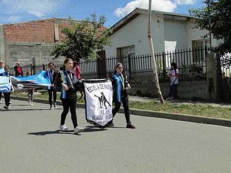 Parade, Argentina, Flag