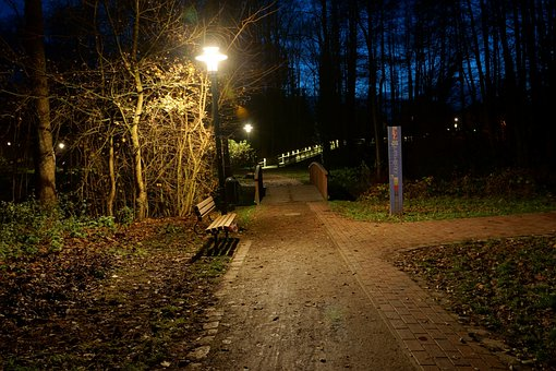 At Night, In The Park, Harsefeld, Lower Saxony