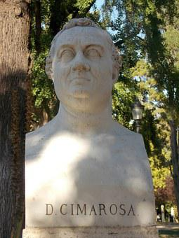 Sculpture, Art, Rome, Ancient, Historic, Face, Cimarosa