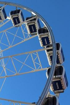Ferris Wheel, Gondolas, Ride, High, Fun, Leisure