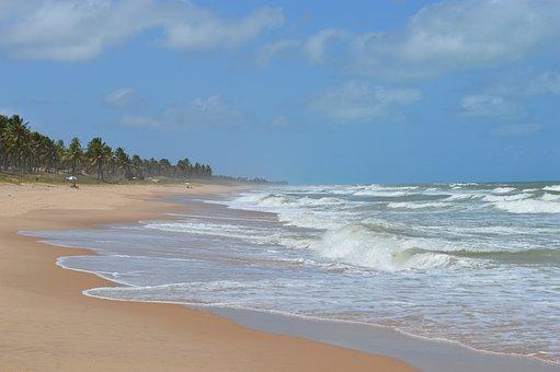 Beach Of Imbassaí, Mar, Beira Mar, Beach, Sunny