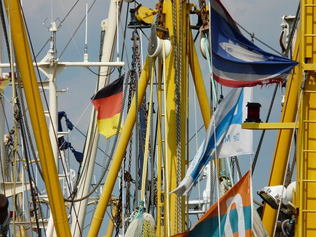 Fishing Boats, Details, Masts, Coast, Port, Fishing