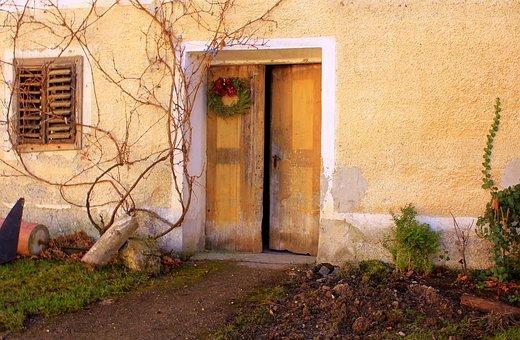 House Entrance, Hausfassade Old, Romantic Hauseingang