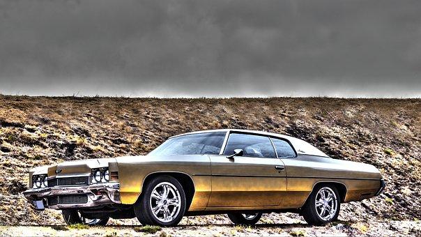 Chevrolet, Impala, 1972, Car, Hdr, Veteran, Classic