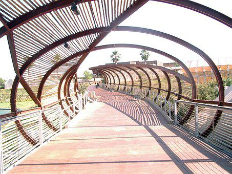 Bridge, Bamboo, Corona, Ca, Architecture, Curved