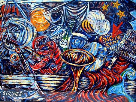 Graffiti, Berlin Wall, Wall, Berlin, East Side Gallery