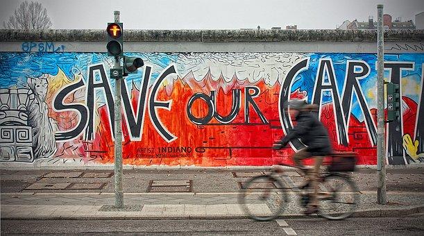 Berlin Wall, East Side Gallery, Berlin, Germany, City