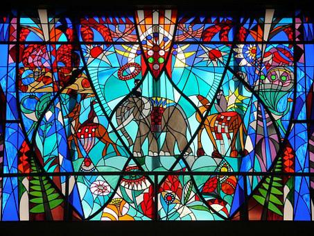 Stained Glass Window, Stained Glass, Bijenkorf Den Haag