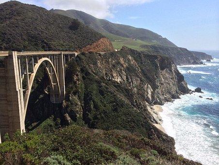 Route, 1, Bridge, California, Big Sur, Landmark