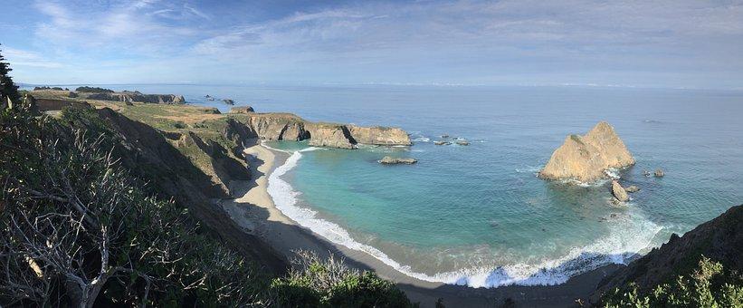 Route 1, Ocean, California, Scenic, Coast, Ca, Rocks