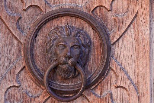 Lion, Door, Goal, Input, Wood, Gate, Castle, Church