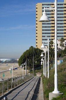 Long Beach Ca, Coastline, Beach Access, Ramp, Walkway