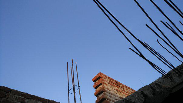Blue Sky, Iron Rods, Construct, Home, Engineering