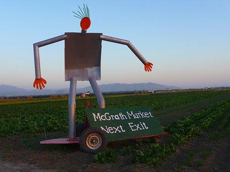 Farm, Sculpture, Agriculture, Field, Statue, Rural