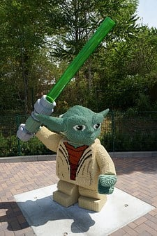Yoda, Lego, Legoland, Star Wars, Jedi, Film, From Lego