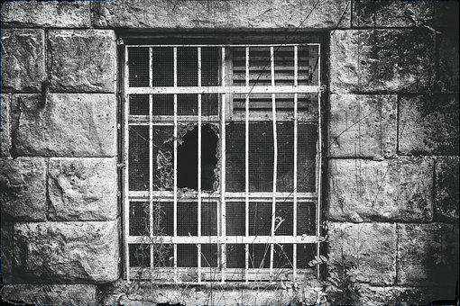 Lost Places, Window, Grid, Grate, Prison, Caught, Old