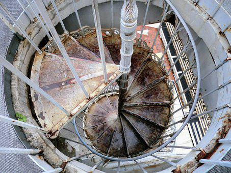 Construction, Winding Staircase, Iron, Steel, Verrroest