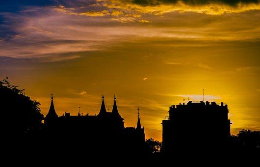 Sunset, Of, Sun, Light, Sky, Clouds, Landscapes