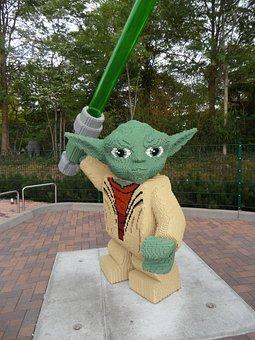 Yoda, Star Wars, Laser Sword, Lego Blocks, From Lego