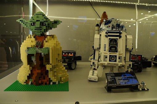 Yoda, R2d2, Star Wars, Lego, Expo, Legos