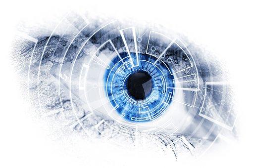 Machine, Mechanical, Eye, Blue, Look, Lens, Bionics