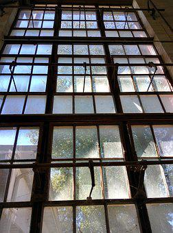 Window, Old, Factory, Open, Ventilation, Iron