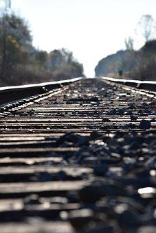 Train Tracks, Tracks, Rocks, Train, Railroad, Rail