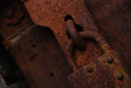 Old, Old Lock, Rusted Lock, Door, Metal, Iron, Rusty