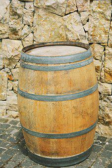 Stone, Barrel, Wood, Iron, Wine, Wine Cellar, Dragas