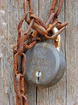 Padlock, String, Old, Symbol, Closed, Close, Forbidden